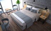 pokój hotelowy z dwuosobowym łóżkiem